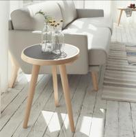 Designers Nordic sofa side a few corner a few round tables living room coffee table small side table minimalist