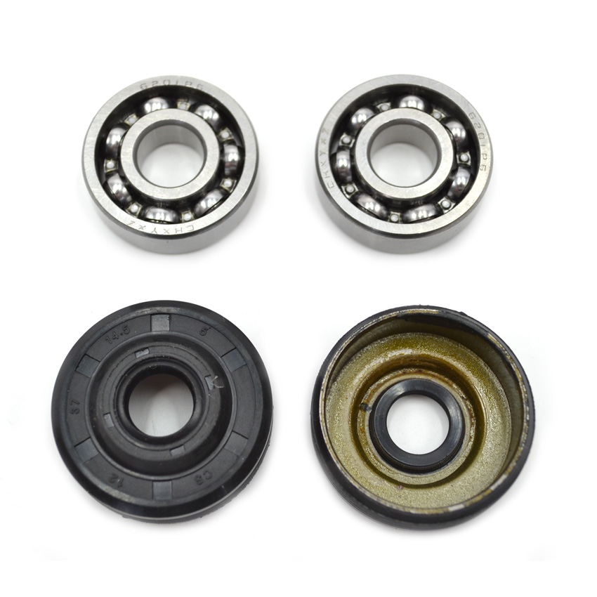 2SETS Oil Seal Bearing Assembly for HUS Partner 350 351 Poulan Chainsaw Parts #530056363 high quality carburetor carb carby for husqvarna partner 350 351 370 371 420 chainsaw poulan spare parts walbro 33 29