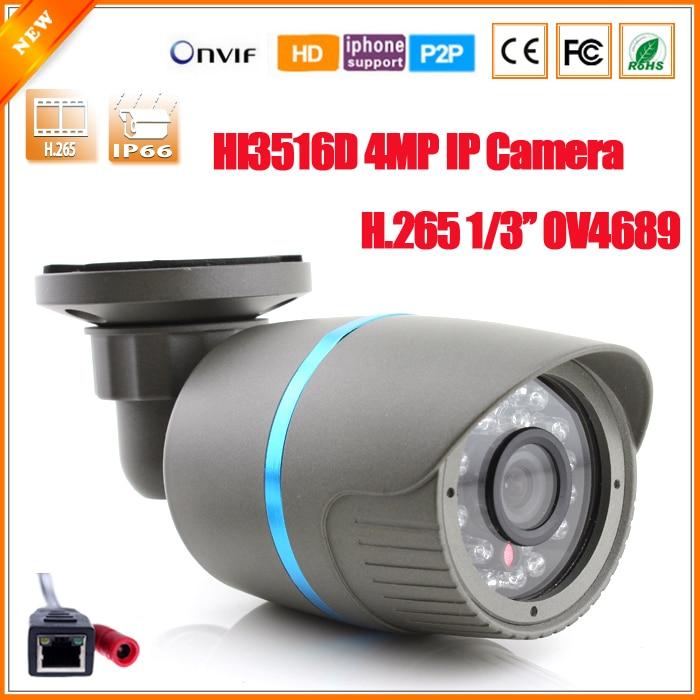bilder für H.265 HI3516D + OV4689 Überwachungskamera IP 4MP Ip-kamera Kamera Outdoor 4MP ONVIF 2,0 4 Megapixel Kamera Ir-sperrfilter P2P