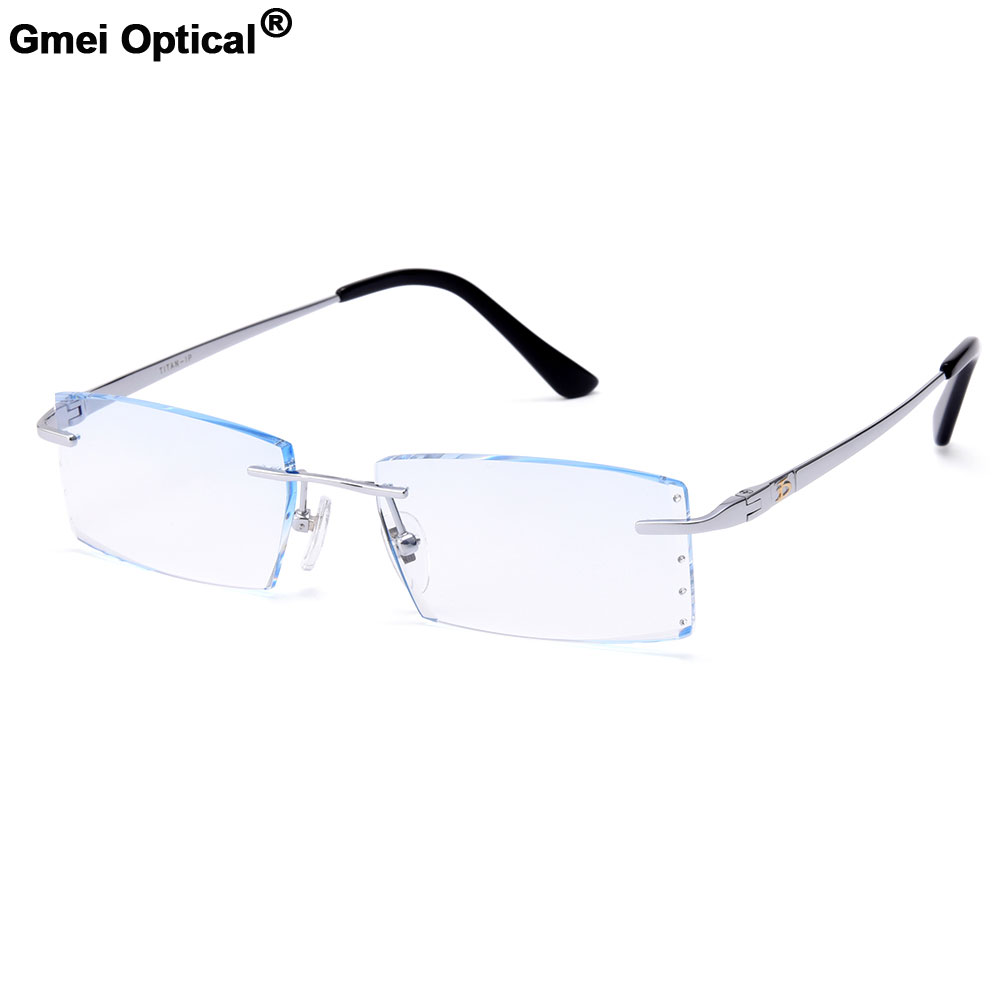 っGmei Optical Modern Diamond Trimming Cutting Rimless Eyeglasses ...