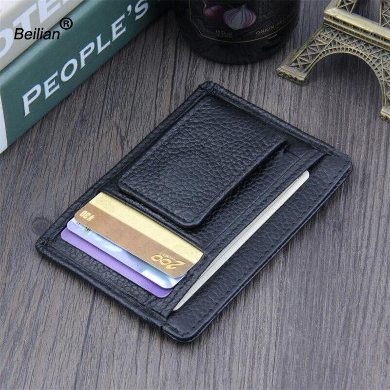 Helt nya äkta läder plånbok män kort hållare handväska kort - Plånböcker - Foto 5