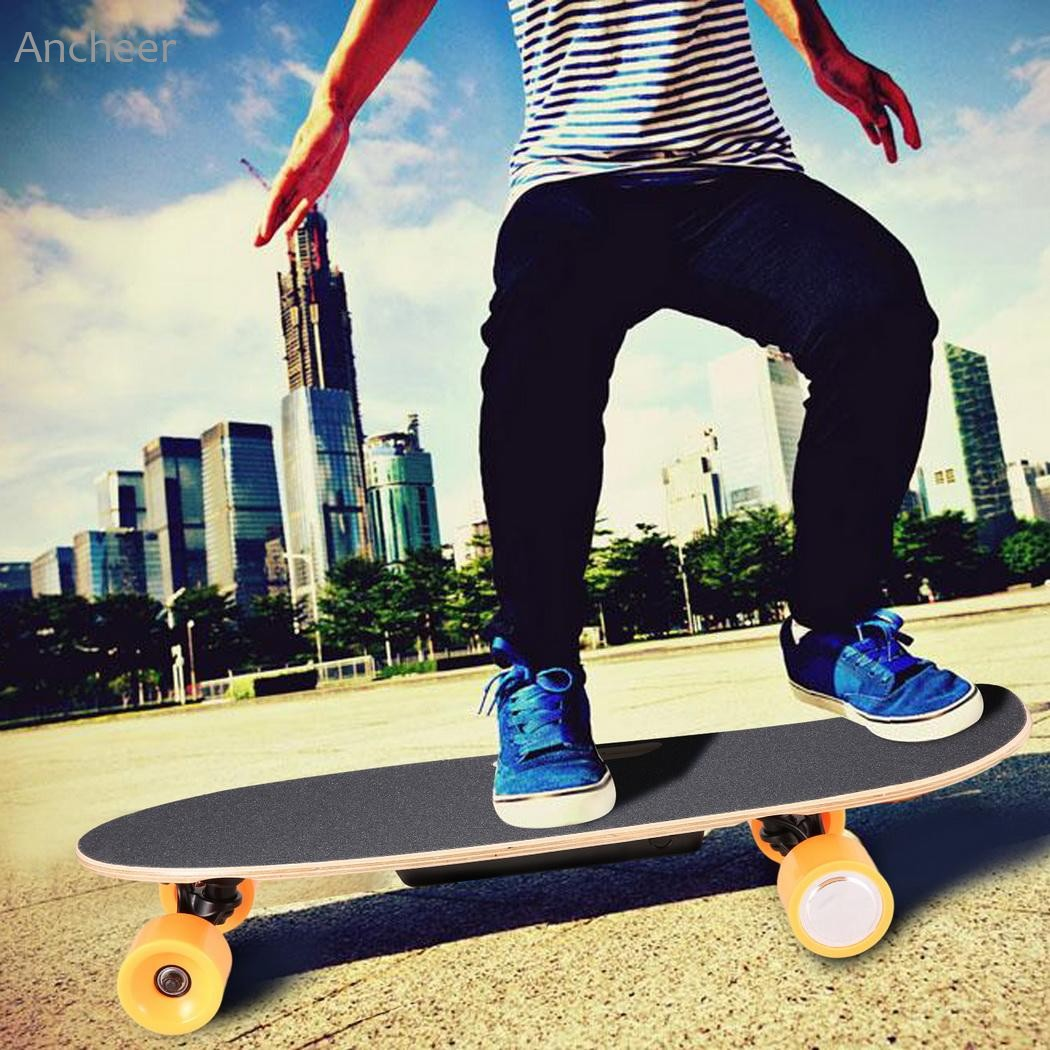 New Electric Skateboard Longboard with Remote Controller 4 Wheels Electric Skateboard Scooter Maple Deck Electric Hoverboard 2017 new 4 wheels electric skateboard scooter 600w with bluetooth remote controller replaceable dual hub motor 30km h for adults