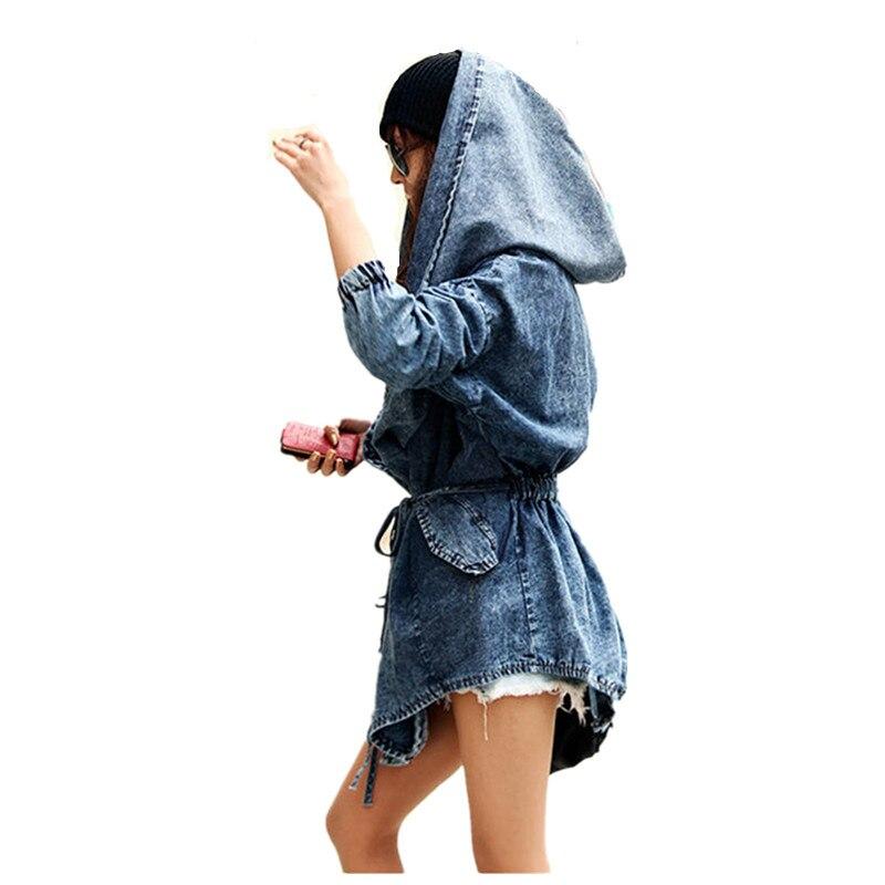 OLGITUM 2017 New font b Women s b font Coat Denim Coat Hooded Outerwear Jean Wind