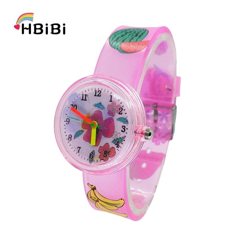 New Product Launch Summer Flower Butterfly Children Students Watch Waterproof Sports Kids Watches Soft Strap Quartz Wristwatches