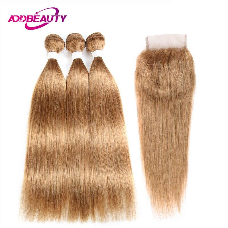 Haarverlängerung Und Perücken Honig Blonde Bundles Farbige 27 Gerade Menschliche Haarwebart Bundles Blonde Peruanische Haar Verlängerung Glänzende Stern Dicke Schuss Nonremy Haarverlängerungen