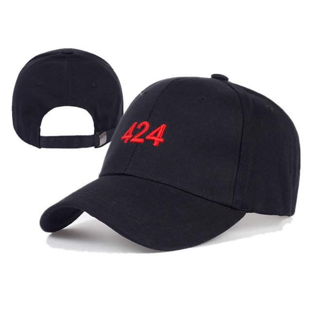 e4aae761c72dc Red Number 424 With Black Background Baseball Cap Embroidery 424 Hat For  Men Women Fashion Cotton Hip Hop Hats Caps YY224