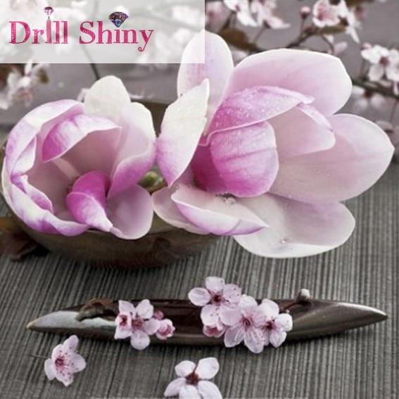 CNA Diy 5D Diament Malarstwo Peach Blossom Krajobraz Pełna Plac - Sztuka, rękodzieło i szycie - Zdjęcie 1