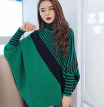 Winter New Woman Loose Sweaters Turtleneck Female Casual Pulls Big Size Warm Sweater for Thick Women