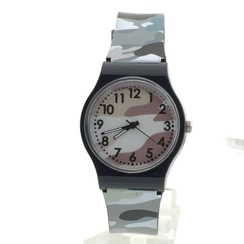 Relogio Feminino Watches Dropshipping Gift Camouflage Children Watch Quartz Wristwatch For Girls Boy August7 телефон cisco uc phone 7821