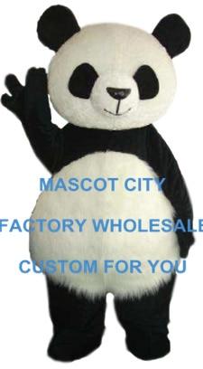 Fat Kawaii Panda Costume De Mascotte Adulte Taille Giant Panda Carnaval partie Cosply Mascotte Mascota Fit Costume Kit EMS LIBÈRENT LE BATEAU SW1060