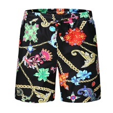 Serigepark Printed chains design Quick Dry Summer Siwmwear Board Shorts Briefs