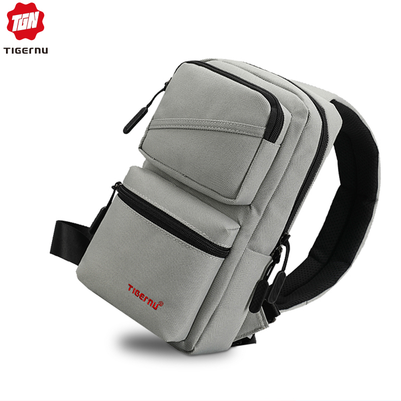Tigernu 2019 Fashion Men Chest Pack Waterproof Messenger Bags Male Large Capacity Sling Travel Crossbody Bag