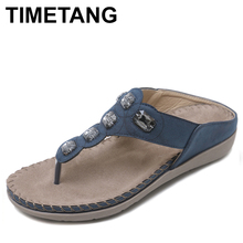 TIMETANG  Women Shoes Comfort Beach Slippers Summer Fashion Flip Flops Ladies Shoes Flat Sandals Gladiator Sandalias WSH2430
