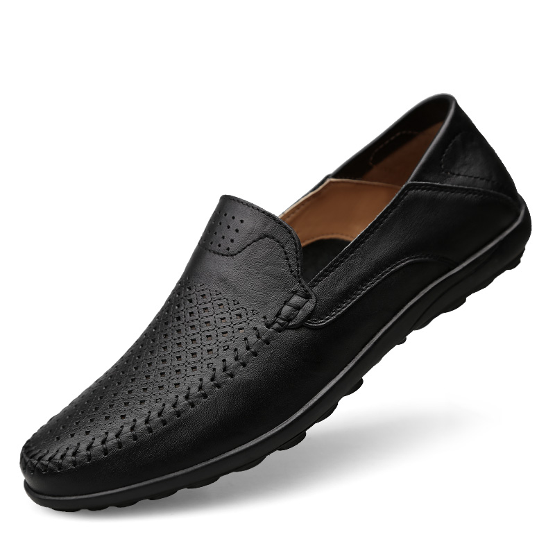 100% QualitäT Italienische Herren Schuhe Casual Luxury Marke Sommer Männer Faulenzer Echtem Leder Mokassins Comfy Atmungs Slip Auf Boot Schuhe BerüHmt FüR AusgewäHlte Materialien, Neuartige Designs, Herrliche Farben Und Exquisite Verarbeitung