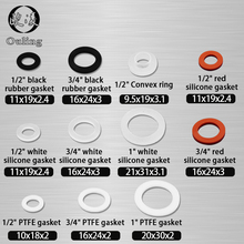White Black 1/2 3/4 1Rubber Ring Silicon PTFE Flat Gasket Sealing for Shower Nozzle Hose Pipe Bellows Tube Washer