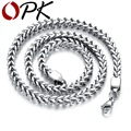 OPK New Arrival Men Necklaces Silver/Gold Plated Stainless Steel Braided Chain Necklace Fashion Chunky Heavy Metal Jewelry GX671