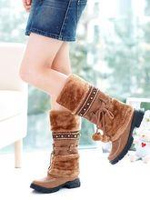 women snow boots women Thick warm sweater ball side casual boots women  warmer boots aliexpress dropshipping 07f29b145abc