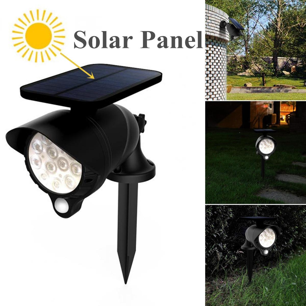 Светодиодный светильник на солнечной батарее, датчик движения PIR, настенный светильник, наружный водонепроницаемый энергосберегающий свет...