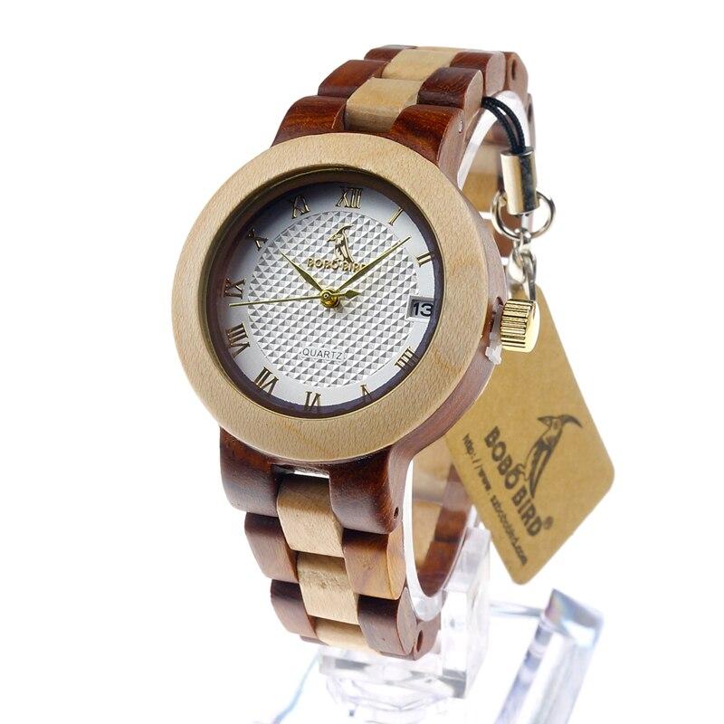 Prix pour Marque bobo bird 2017 dames bois montre de luxe bracelet montres avec fine en bois bracelet femmes robe montre m19