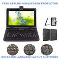 3-IN-1 Stylus+Film+Keyboard for DEXP Ursus 9EV mini 3G 9 inch Tablet Micro USB Keyboard PU Leather Case