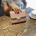 2016 новый Корейский цепи сумка сумка небольшая площадь пряжки мини-небольшой сумка женская сумка прилив