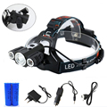 6000LM Headlamp Powerful Light T6+2R5 Headlight Headlamp USB Power bank Rechargeable Torch Flashlight Lamp+18650 Battery+Charger
