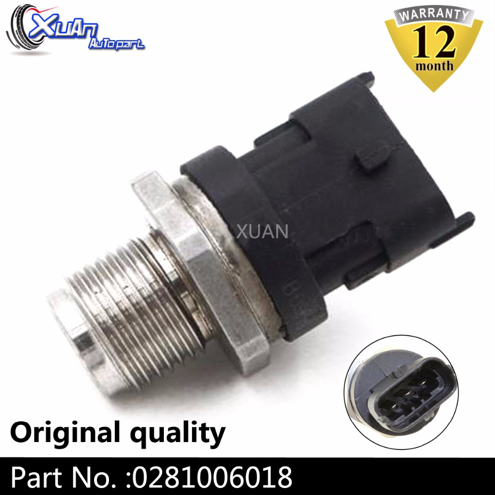 XUAN 1800 Bar Fuel Rail Pressure Sensor For Ford Ranger Everest Mazda BT 50 BT50 Pickup 2.5 MRZ 3.0 CDVi 2008 0281006018