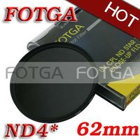 Wholesale!Fotga 62mm Neutral Density ND4 62mm Lens Filter Screw Mount as green L for dvd dc camera