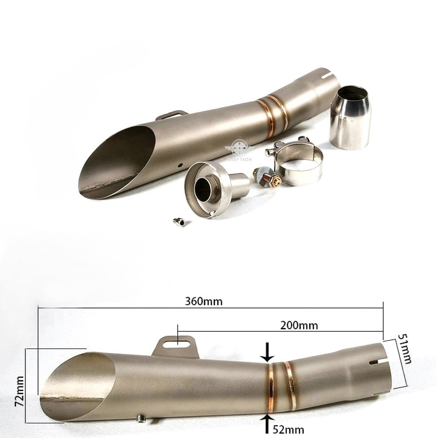Motorcycle Muffler Stainless Steel Motorcycle Muffler exhaust pipe For Yamaha YZF R6 stainless steel tuned pipe exhaust for zenoah rcmk sikk rc boat 23 30cc 380mm