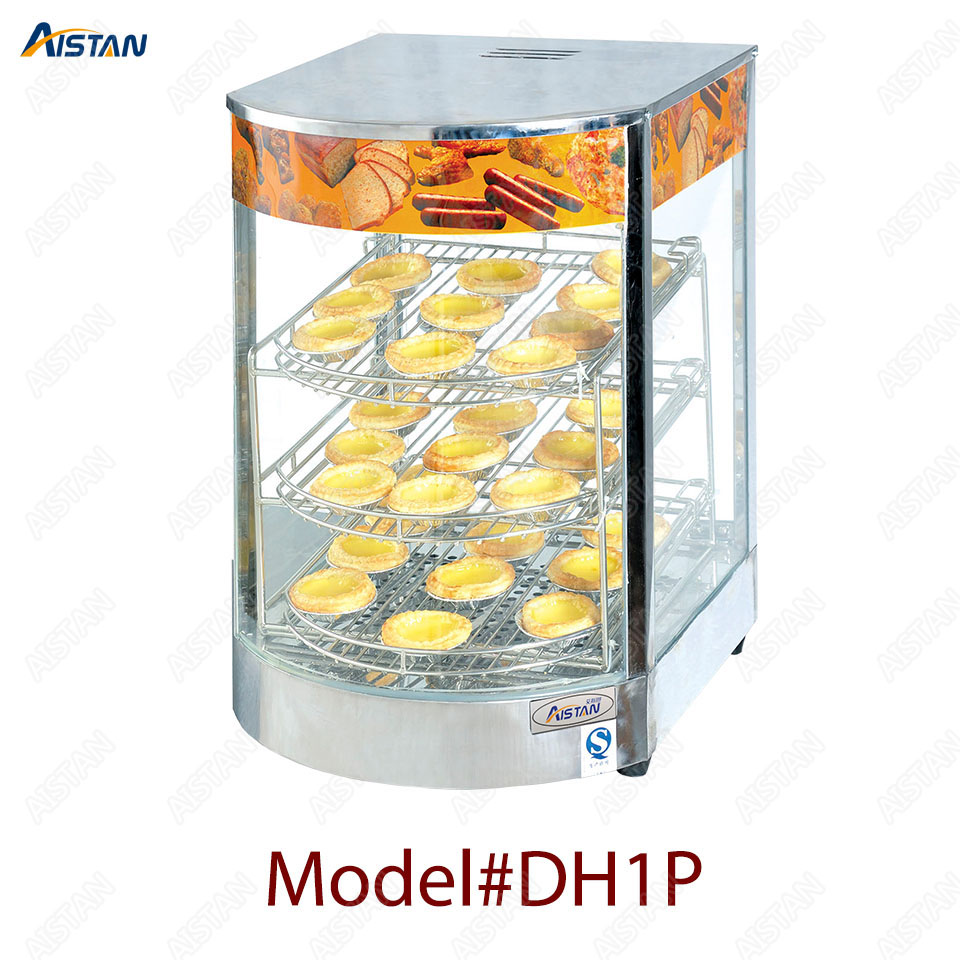 DH1P Commercial Countertop Electric Stainless Steel snack bread pizza Food Warmer Display Showcase 1
