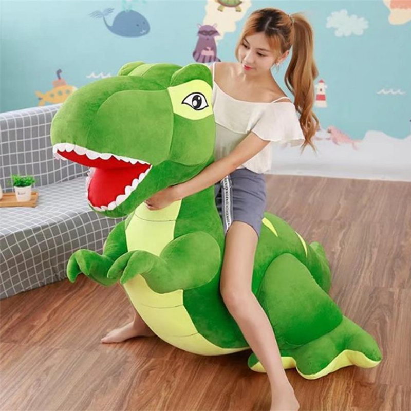 Fancytrader Giant Stuffed Plush Large Dinosaurs Rex Toy Gifts for Kids Soft Cuddly Animals Doll 200cm 79inch fancytrader new style giant plush stuffed kids toys lovely rubber duck 39 100cm yellow rubber duck free shipping ft90122