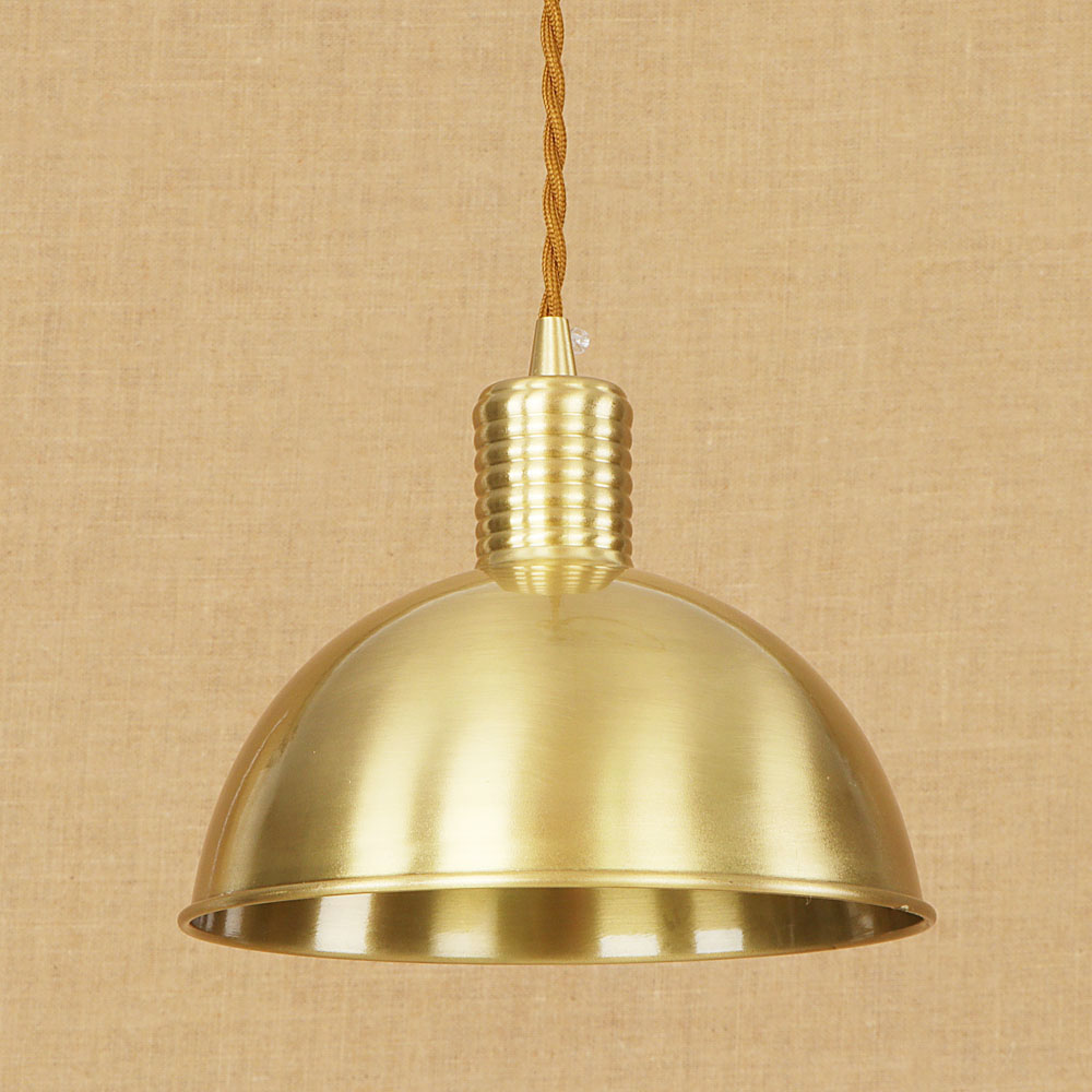 Brass European Vintage Noble Style Copper Pendent Light Single Head ...