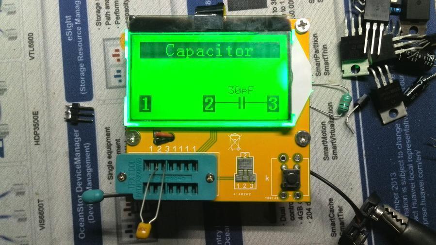 Free shipping, Mega328 Transistor Tester Diode Triode Capacitance ESR Meter MOS/PNP/NPN L/C/R  lcr esr meter mega328 digital combo transistor tester diode triode inductor capacitance resistor mos pnp npn test clip