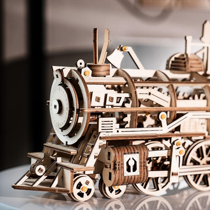 Robud Majelis Bergerak Lokomotif oleh Jamwork Musim Semi Kayu Model - Mainan bangunan dan konstruksi - Foto 3
