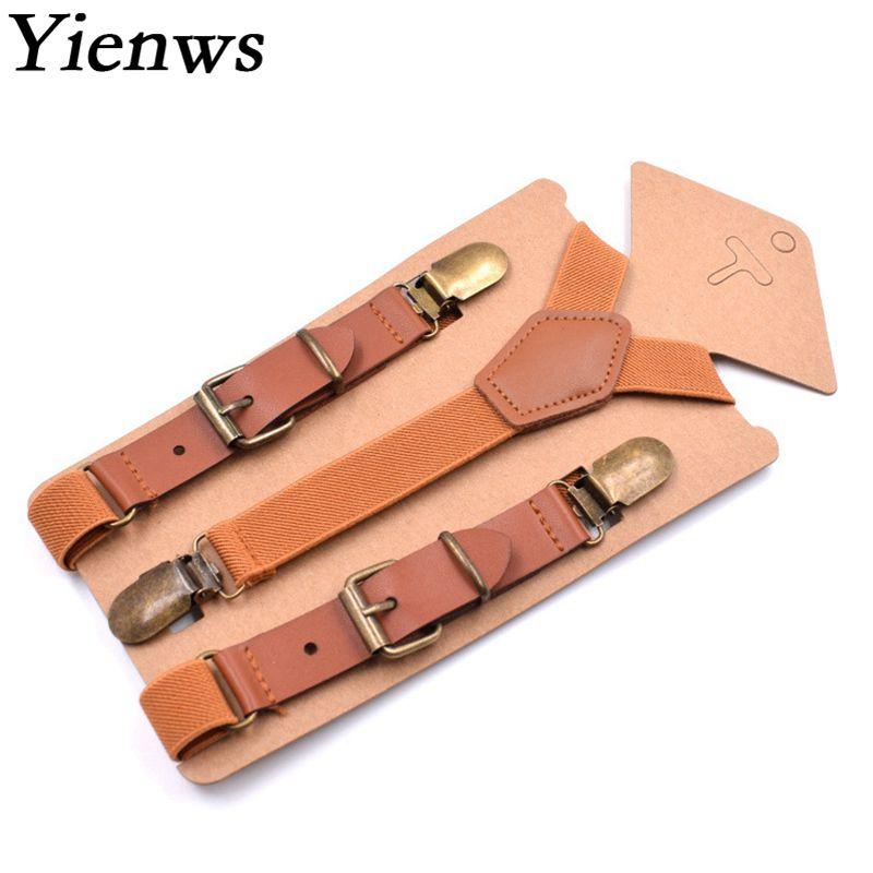 Yienws Braun Jungen Hosentrager Vintage Leder Hosentrager Fur Kinder