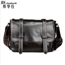 The First Layer of Leather Shoulder bag Cross Section of The Trend of Leisure Messenger bag Men's Leather Bag Shop