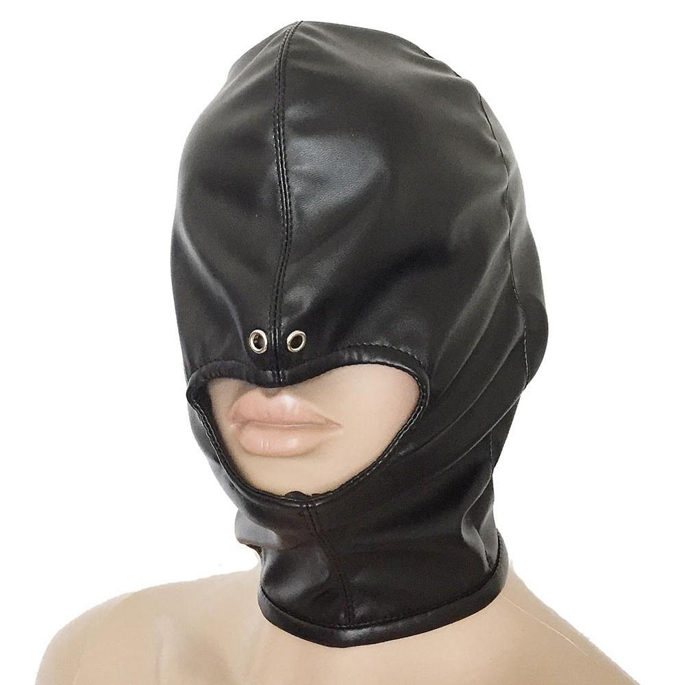 Real Leather Creature Hood Party Slave Masks