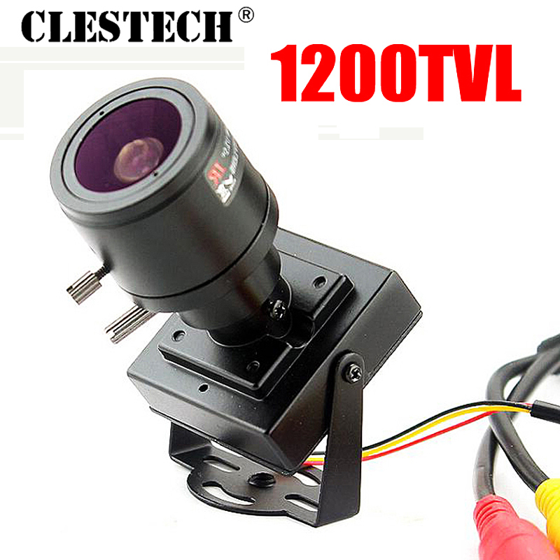 Nuevo producto Mini enfoque manual 2.8m-12mm 1200TVL Lente ajustable Color Video HD CCTV Vigilancia de seguridad Zoom Cámara Metal