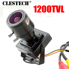 New Product Mini Manual focusing 2.8m-12mm 1/4CMOS 1200TVL Djustable Lens Color Video HD CCTV Security Surveillance Camera Metal