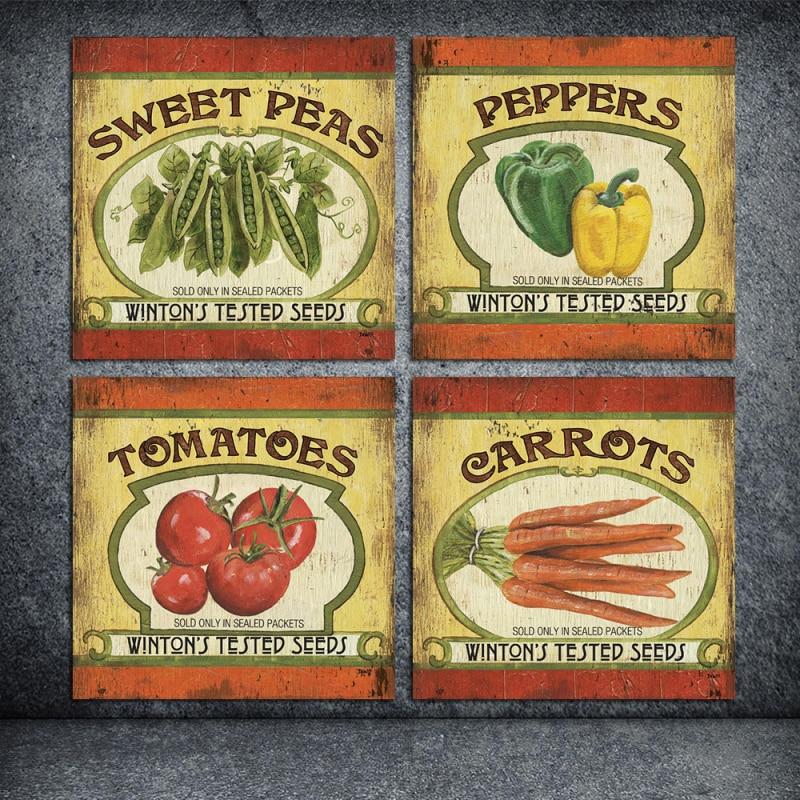 Картина маслом плакат о помидоры и перцы стены краской изображение на холсте для дома Бар стены наклейки декор RZ-BB021