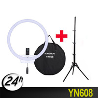 YongNuo YN608 Selfie Ring Light 3200K~5500K Bi Color Temperature Wireless Remote LED Light CRI>95 with Handle Grip Tripod Photographic Lighting Consumer Electronics -