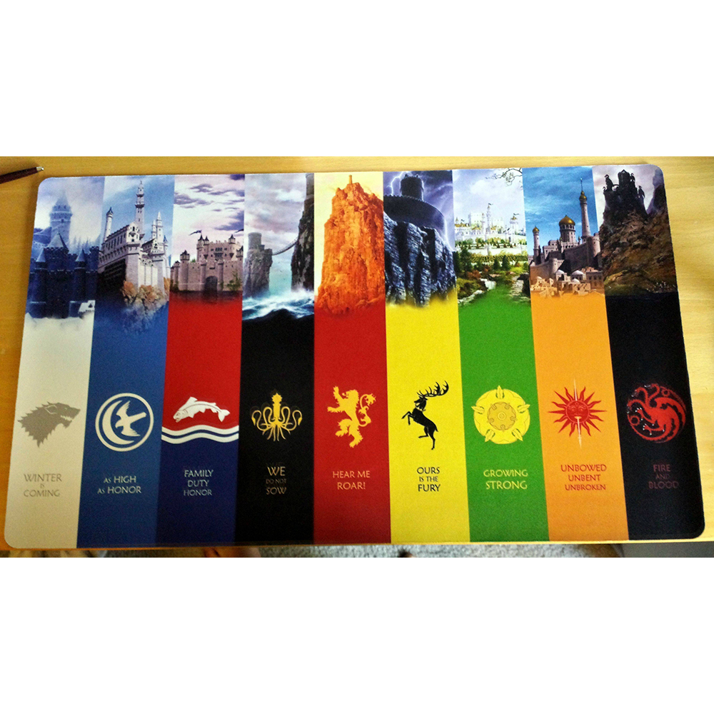 Game Of Thrones Playmat Winter Is Coming Symbols Of Every House