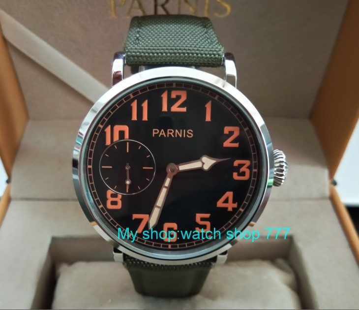 46mm parnis Black dial Asian 6497 17 jewels Mechanical Hand Wind movement men watch luminous Mechanical watches zdgd197a limited edition watch 50mm big dial parnis men s watch asian 6498 mechanical hand wind pvd black watchcase 84aa