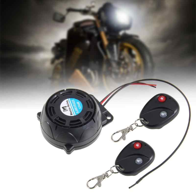 Carchet Motor Alarm Sistem Anti-Theft Security Alarm System dengan 2 Remote Control Mesin Mulai untuk Honda Yamaha