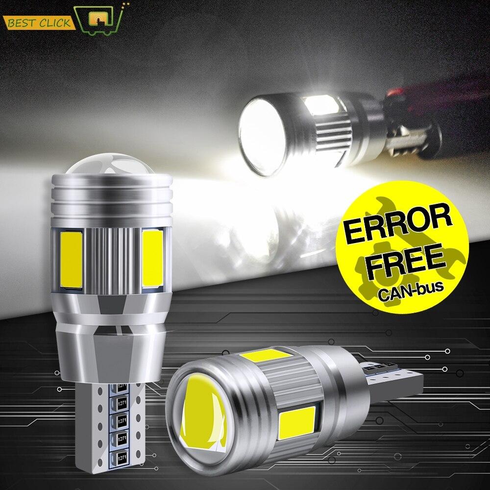 Xukey 2 шт. T10 Автомобильные светодиодные лампы без ошибок W5W 501 168 194 габаритная парковочная лампа авто клиновидные сигнальные лампы 6000K HID белый ...