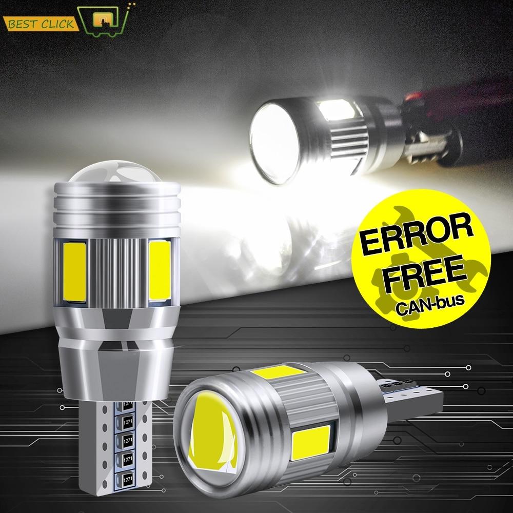 Xukey-luces Led sin errores T10 para coche, luces de estacionamiento, Blanco HID, 3W, 12V, W5W, 501, 168, 194, 6000