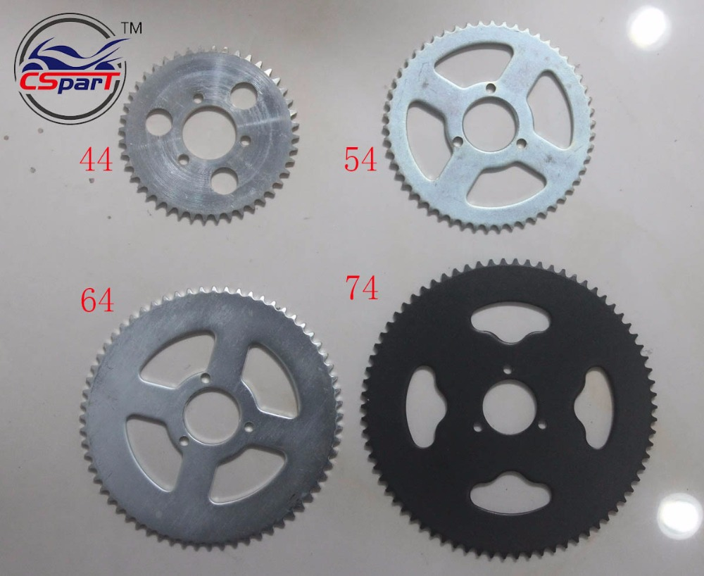44 54 64 74 Tooth 44T 54T 64T 74T T8F 35MM Rear Sprocket Mini Moto ATV Quad Dirt Pit Pocket Bike Cross 47cc 49cc Parts 116 460mm t8f chain links with spare master link for 47cc 49cc 2 stroke dirt pocket mini moto cross bike atv quad go kart