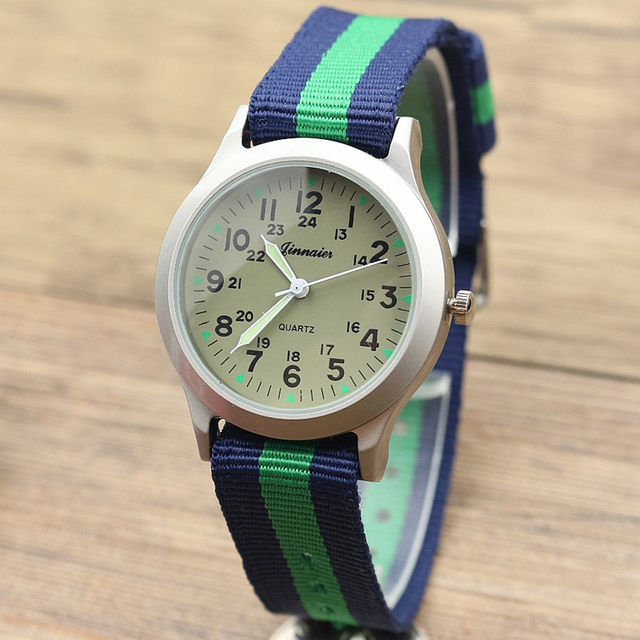free shipping middle boys and girls luminous hands quartz watch casual child out