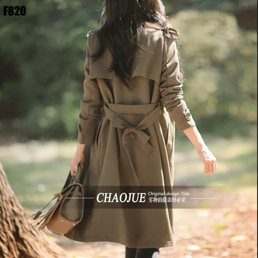 Coréenne Vêtements 2016 Manteau Green Automne Mode Tranchée Lâche Occasionnels S 4xl Vert Femmes Printemps Army Noir DentelleUp VSpGqUzM