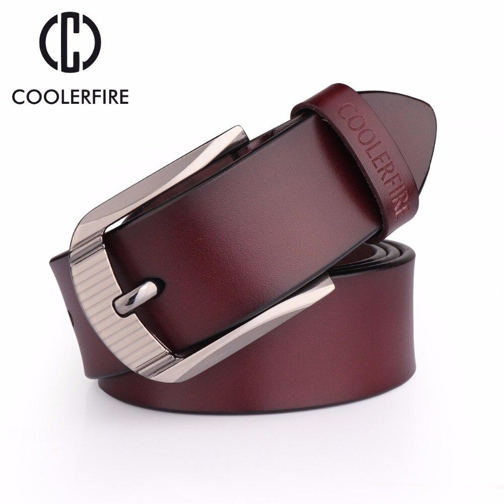 Cinturones de piel auténtica para hombre, cinturones de alta calidad, Estilo Vintage, clásico, HQ057
